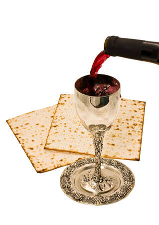 sat: filling ritual wine cup in the Sabbath Stock Photo