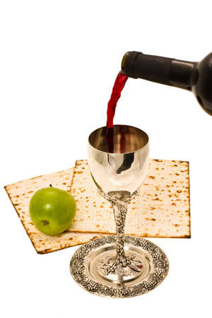 filling ritual wine cup in the Sabbath Stock Photo - 4131099
