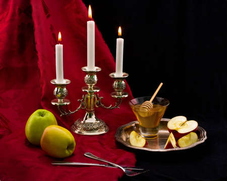 judaica: ceremony of the meeting the jewish new year Stock Photo