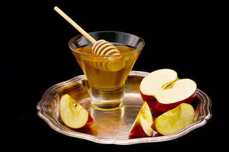 honey and apple symbology new year beside jude Stock Photo - 4145515