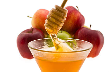 honey and apple symbology new year beside jude Stock Photo - 4145703