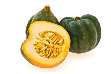 decorative pumpkin shown on a white background Stock Photo
