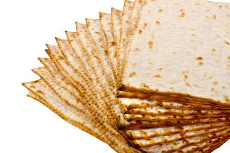 seyder: Pieces matzot prepared for celebrating passover ceremony Stock Photo