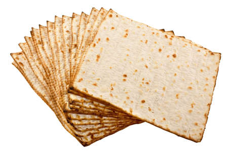 matzoh: Pieces matzot prepared for celebrating passover ceremony Stock Photo