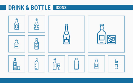 Drink & Bottle Icons - Set Web & Mobile 01 Standard-Bild - 122644663