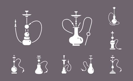 Hookah Icons - Vector Set Web & Mobile 02