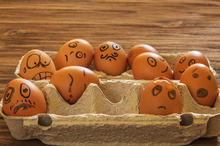 smilies: painted eggs smilies Stock Photo
