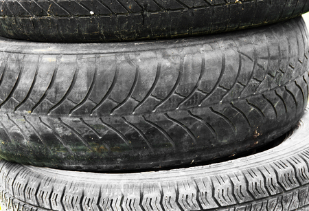 space weather tire: pattern on car wheel vintage Stock Photo