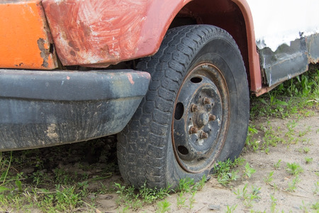 rusty car: old vintage rusty car wheel