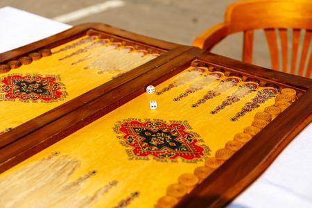 Board for the Azerbaijani backgammon game