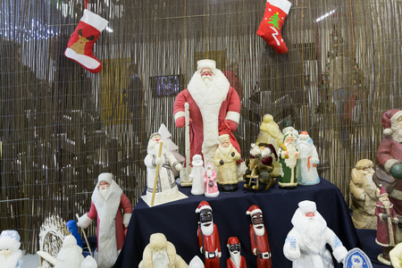 MINSK, BELARUS - OCTOBER 10, 2017: NEW YEAR AND CHRISTMAS FURNITURE TOY AND SOUVENIRS SHOP