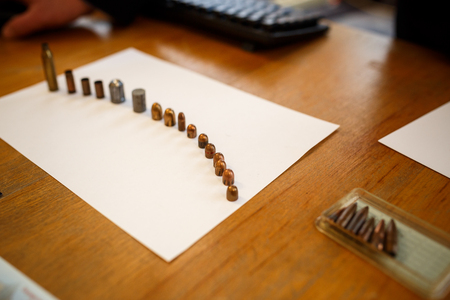 many shell casings from bullets of different caliber