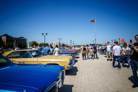 MINSK, BELARUS - MAY 1, 2017:  exhibition of old retro cars Editorial