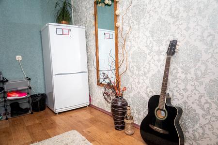 MINSK, BELARUS - 20 JANUARY, 2018: empty student dorm living room
