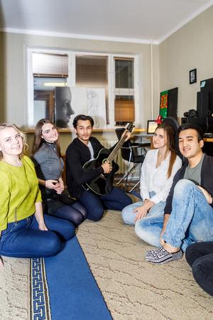 MINSK, BELARUS - 20 JANUARY, 2018: students in the dorm room
