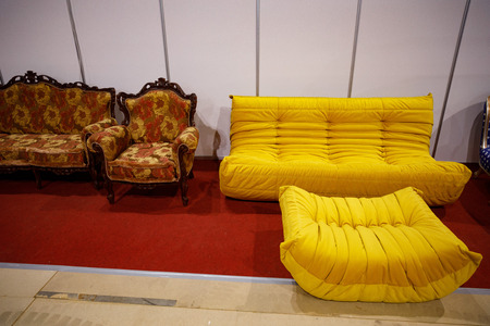furniture, plumbing and finishing materials are sold in a furniture store