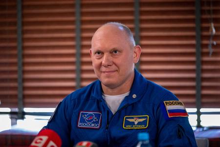 MINSK, BELARUS - 1 MARTH, 2019: Russian cosmonaut Oleg Artemyev Redakční