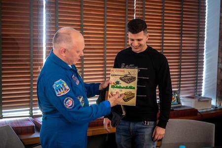 MINSK, BELARUS - 1 MARTH, 2019: Russian cosmonaut Oleg Artemyev Редакционное