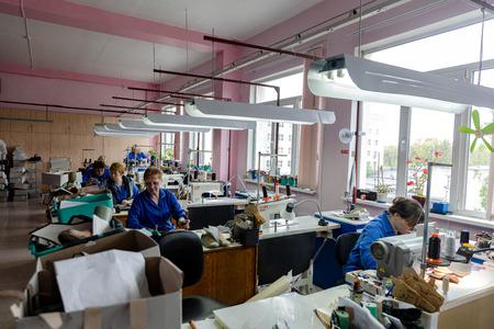 MINSK, BELARUS - 1 JUNE, 2019: sewing factory 報道画像