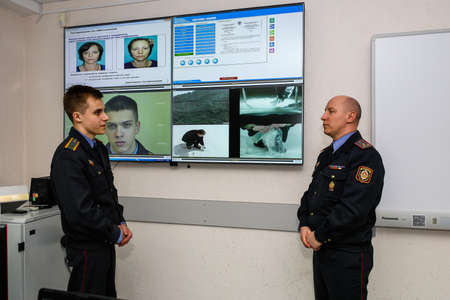 MINSK, BELARUS - 1 MARCH, 2020: cadets study at the police academy