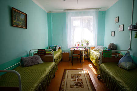 MINSK, BELARUS - 1 MAY, 2019: old people with disabilities live in a nursing home Editorial