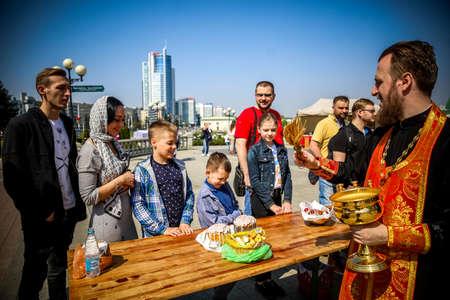 MINSK, BELARUS - 1 MAY, 2019: Orthodox celebrate Easter