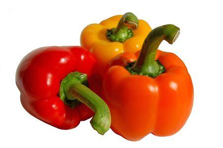 Three paprika - red, orange, yellow