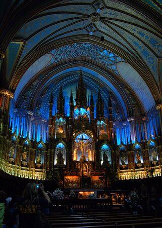 몬트리올, 퀘벡에있는 노트르담 대성당의 간선.