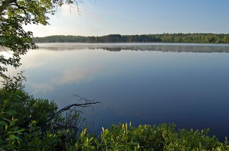 Sunrise in beautiful lake in Samuel de Champlain  Park