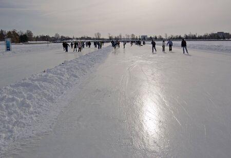 히도 운하, 오타와의 얼음에 스케이터.