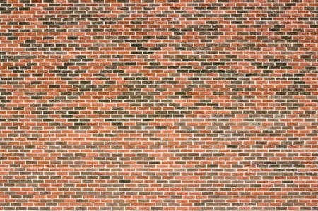 Blind Rode en bruine bakstenen muur in de zon.