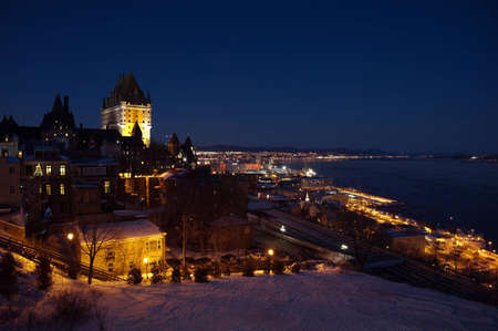 Chateau Frontenac at the night, Quebec City, Canada.   photo