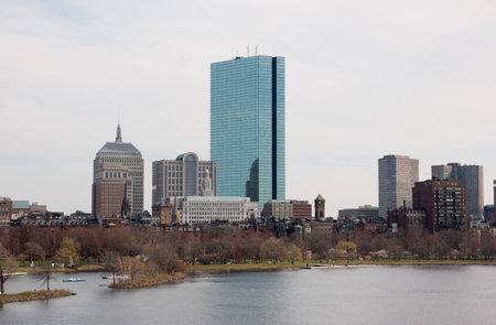 Boston Back Bay Skyline John Hancock Tower, viewed from Cambridge, Massachusetts