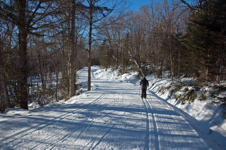 cross country skiing  free style track  Mont Saint-Anne, Quebec, Canada