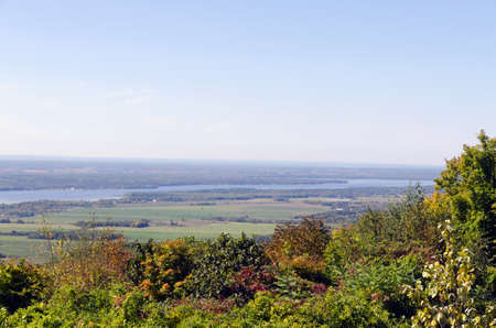 Gatineau plateau and Ottawa river valley in autumn  photo