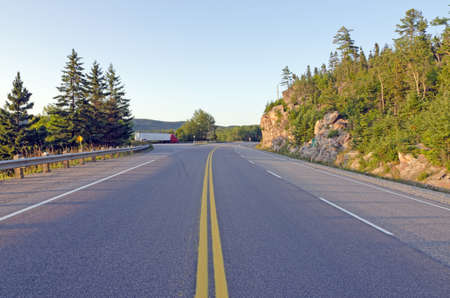 spaciousness: TransCanada highway along Superior Lake shore