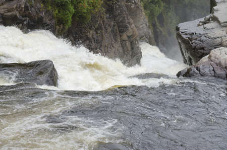 Canyons and waterfalls of Ste. Anne de Beaupre, Quebec.