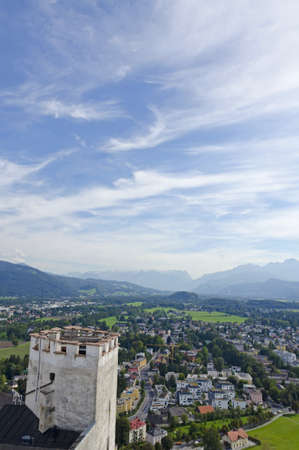 Alps panarama from Hohensalzburg Castle, Austria photo