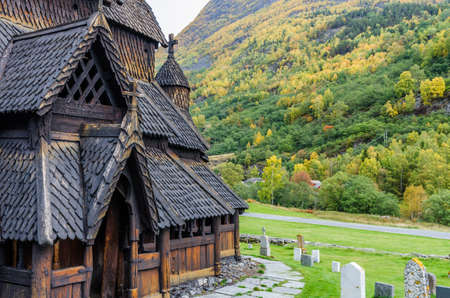 Borgund Stave church. Built in 1180 to 1250, Norway
