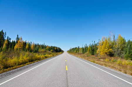 Trans Canada Highway near Superior Lake, Ontario, Canada