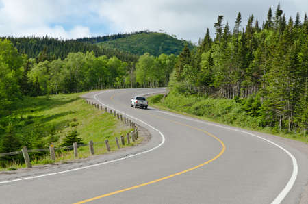 Highway in back country, Newfoundland, Canada