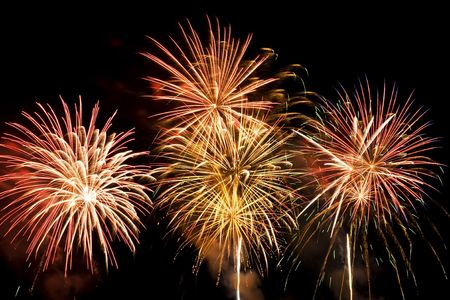 Colorful firework show finale with multiple bursts Stock Photo - 5376756