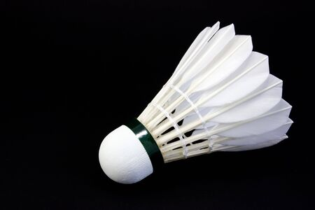 Shuttlecock isolated in the white background close-up