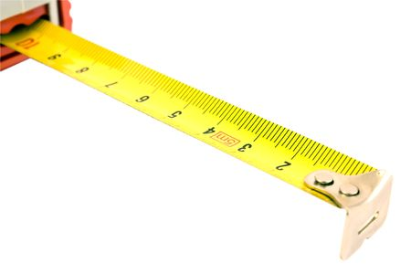 Metal ruler on the white backgroung