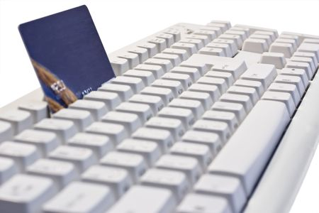 Credit card on a computer keyboard Stock Photo - 5821764
