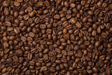 Coffee beans in the background close-up photo