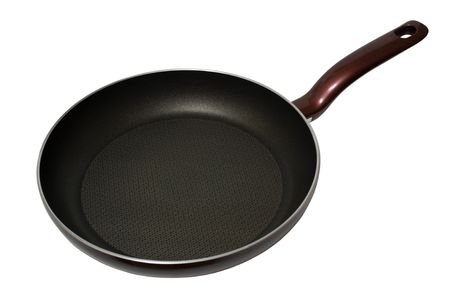Empty pan isolated on the white background  photo