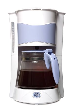 Coffee maker isolated on the white background photo
