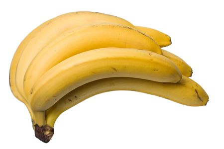 A bunch of bananas isolated on the white background photo