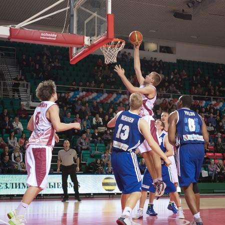vasiliev: SAMARA, RUSSIA - DECEMBER 11: Nikita Balashov of BC Krasnye Krylia throws a ball in a basket during a game against BC Joensuun Kataja on December 11, 2012 in Samara, Russia.